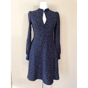 Kate Spade lips crepe fit & flare dress size 2